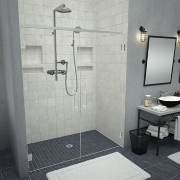 barrier free tiled shower