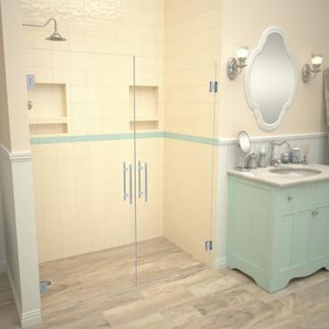 barrier free tiled shower