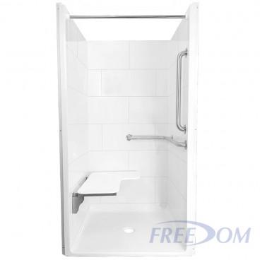 38 inch x 37 inch Freedom ADA transfer shower, Right