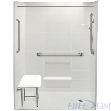 60 x 33.375 inches Freedom Accessible Shower Package