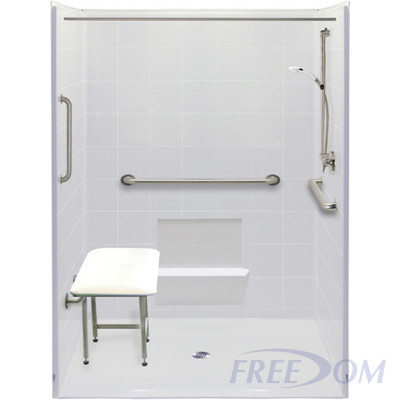 """60"""" x 49"""" Freedom Accessible Shower"""