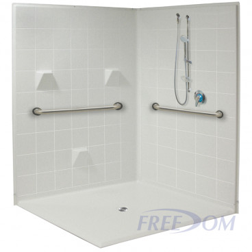 61 x 61 inches Freedom Accessible Corner Shower