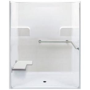 "62"" x 39½"" ADA Roll In Shower, LEFT Seat"