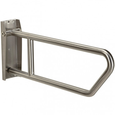 swing up, side of toilet grab bar, satin stainless
