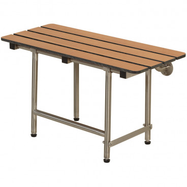 "32"" x 15"" Folding Bench with legs, Phenolic Slatted TEAK"