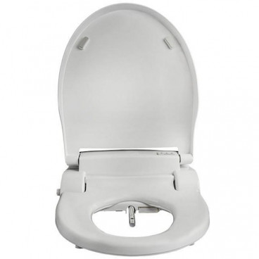 round bidet toilet seat with stainless steel self cleaning nozzle