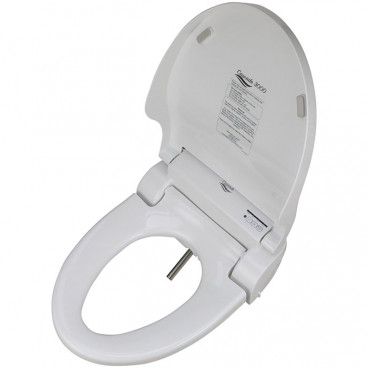 Elongated bidet toilet seat fits french curve and most modern toilet seats