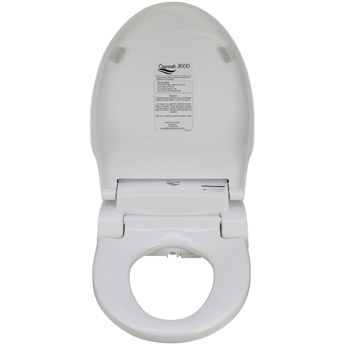 Bidet Toilet Seat Cascade 3000 Elongated Seat Warm Wash Dry Easy To Use Large Remote