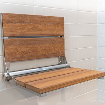 Antique Mahogany shower bench - LuxeWood