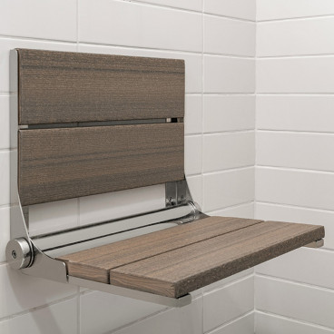 Coastal Gray shower bench - LuxeWood