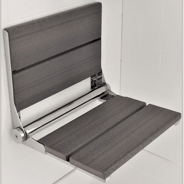 Driftwood Gray shower bench - Luxe wood
