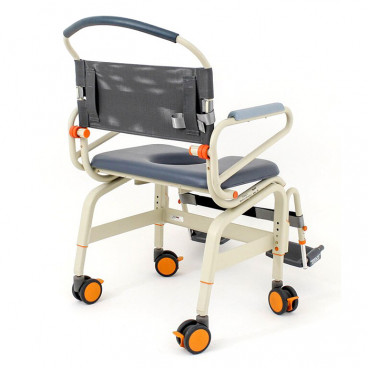 """roll in ShowerBuddy XXL 26"""" wide seat back view"""