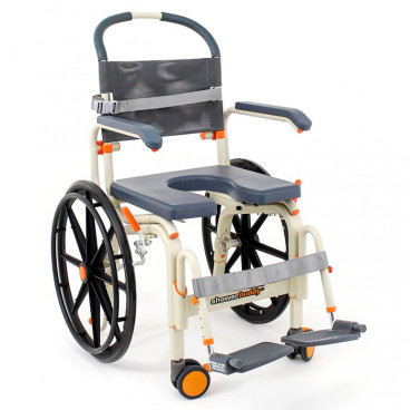 "18"" Wide Self-Propelled Roll In ShowerBuddy Chair"