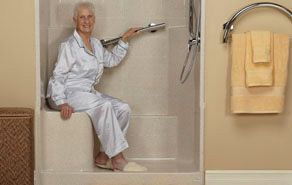 Easy Step low threshold showers for seniors