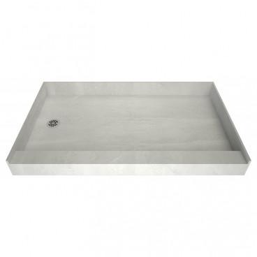 tiling shower base curbed left drain