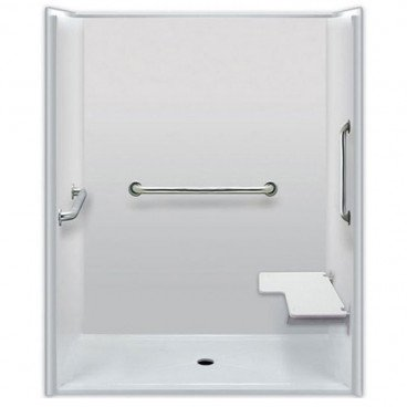 60 x 36 inches Accessible Shower, Right Seat