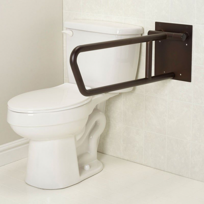 Freedom Swing Up Toilet Grab Bar Bronze Finish 30 Quot X 1 1 4 Quot