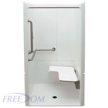 40 x 39 inches Freedom ADA Transfer Shower, Left Valve