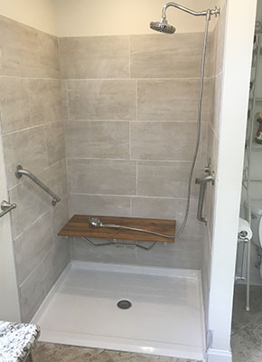 48 by 37 freedom shower pan created accessible shower
