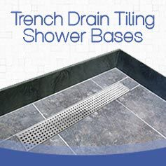 tiling_shower_base_with_trench_drain