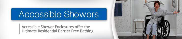 Accessible Showers offer the Ultimate Residential Barrier Free Bathing