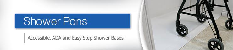 Accessible, ADA, Easy Step Shower Bases - Freedom Shower Pans