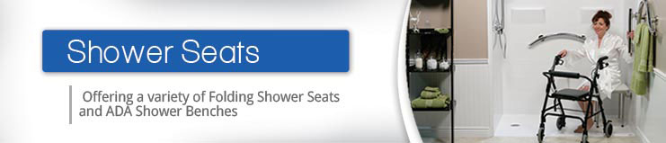 Folding Shower Seats and Bath Seats, Handicap accessible shower chairs.