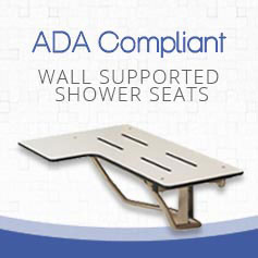 ADA Wall Supported Shower Seat