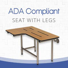 ADA compliant shower seat with legs