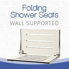 wall supported shower seat
