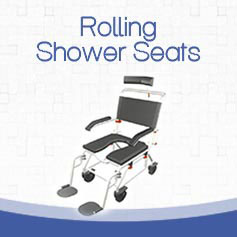 rolling shower chair for handicapped access