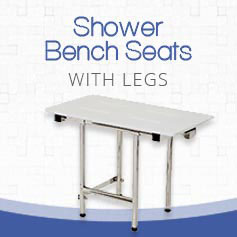 folding shower bench seat with legs