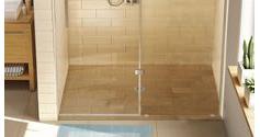 tile over shower pans low threshold