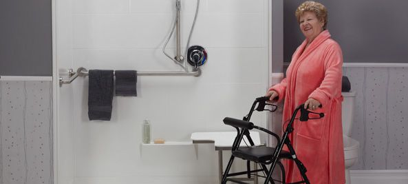 wheelchair accessible ADA roll in showers