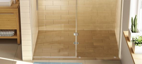 barrier free tile over shower pans, handicapped accessible