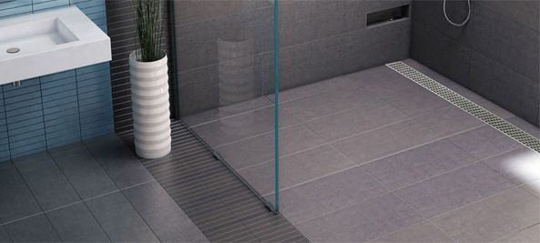 Barrier Free Tile Over Shower Pans With Trench Drain
