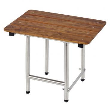 folding teak shower bench seats with legs 22 x 16. Black Bedroom Furniture Sets. Home Design Ideas