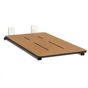 "32"" x 16"" Folding Bathtub Seat, End Hung, Phenolic Solid WOODGRAIN"