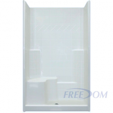 "48"" x 37"" Freedom Easy Step Shower, LEFT Seat"