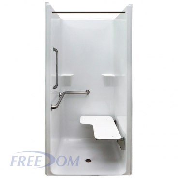 Freedom ADA Transfer Shower, Left Valve, 1 Piece, 39 x 37.5 inches