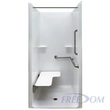 Freedom ADA Transfer Shower, Right Valve, 1 Piece, 39 x 37.5 inches