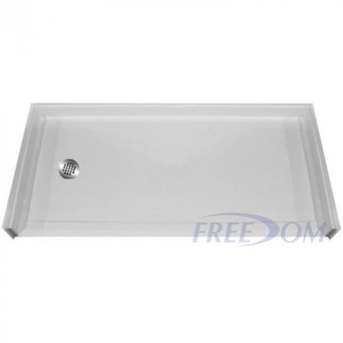 Freedom Bathtub Replacement Shower Pan, Left Drain (60\