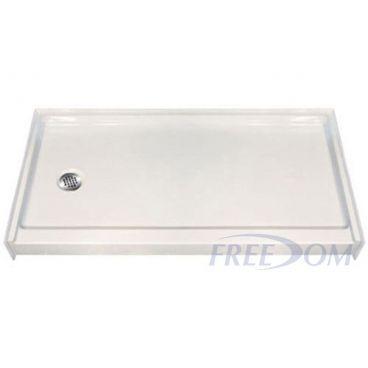 60 x 31 Freedom Easy Step Shower Pan, left drain