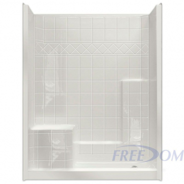 "60"" x 33"" Freedom Easy Step Shower, LEFT Seat"