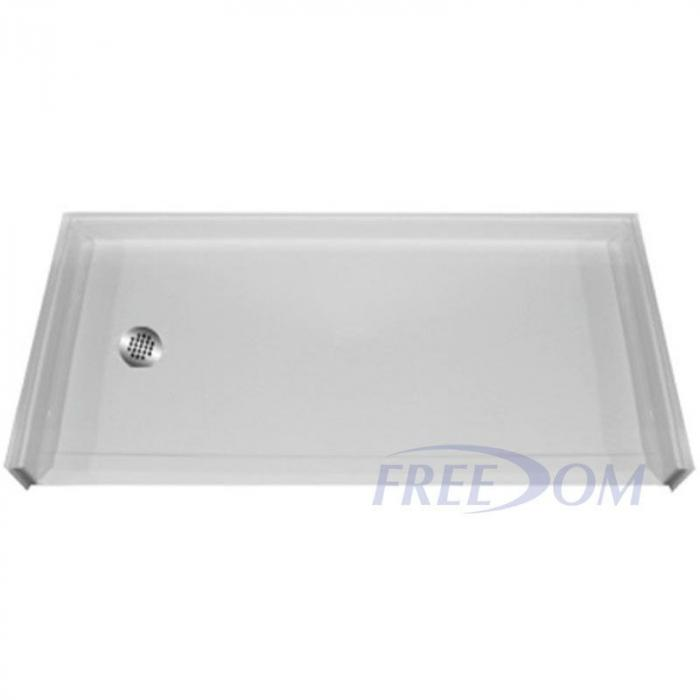 Freedom Handicapped Accessible Shower Pan Left Drain 60 x 33