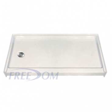 60 x 33 fiberglass shower pan with left drain