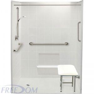 60 x 37 Freedom Accessible Shower Package, Left Drain