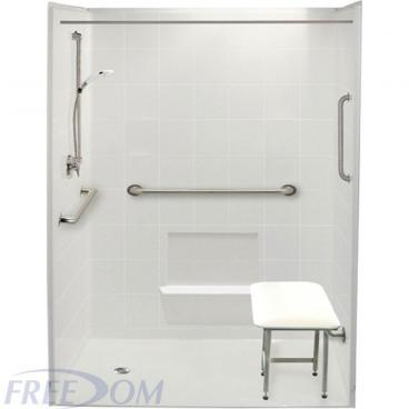 "60"" x 37"" Freedom Accessible Shower, Left Drain"