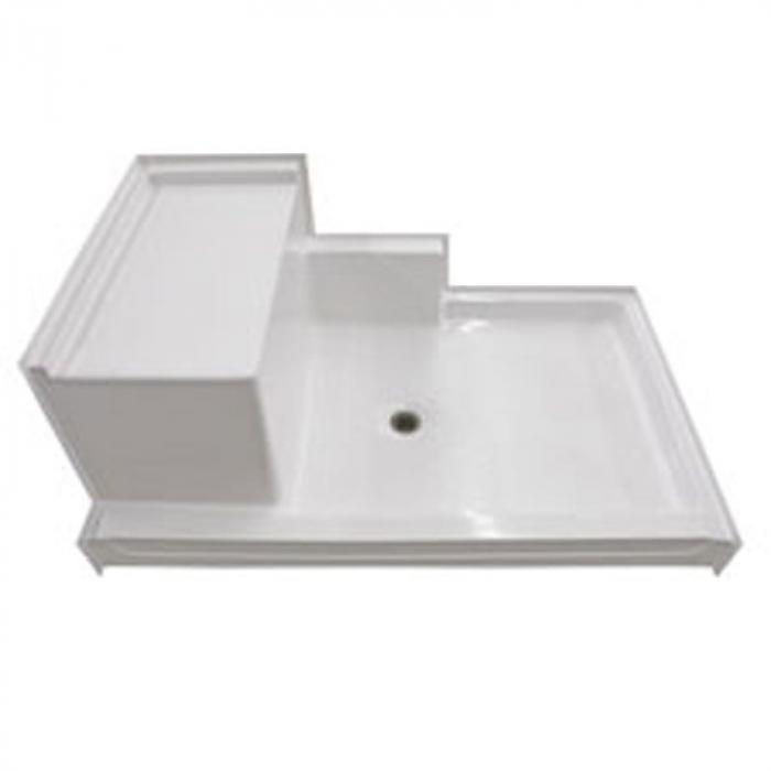 Freedom Easy Access Shower Pan, Left molded seat (60\
