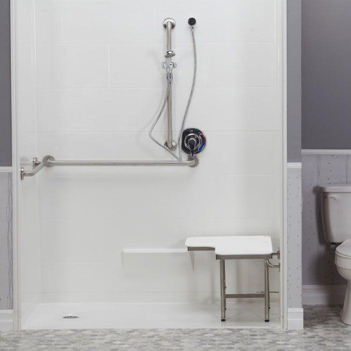 Freedom Ada Roll In Shower Left Drain 5 Piece 62 7 16